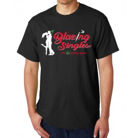 Blazing Singles - Men's T-Shirt - Black
