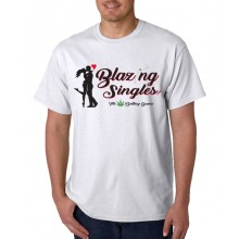 Blazing Singles - Men's T-Shirt - White