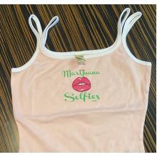 Marijuana Selfies - Pink Woman's Tank Top