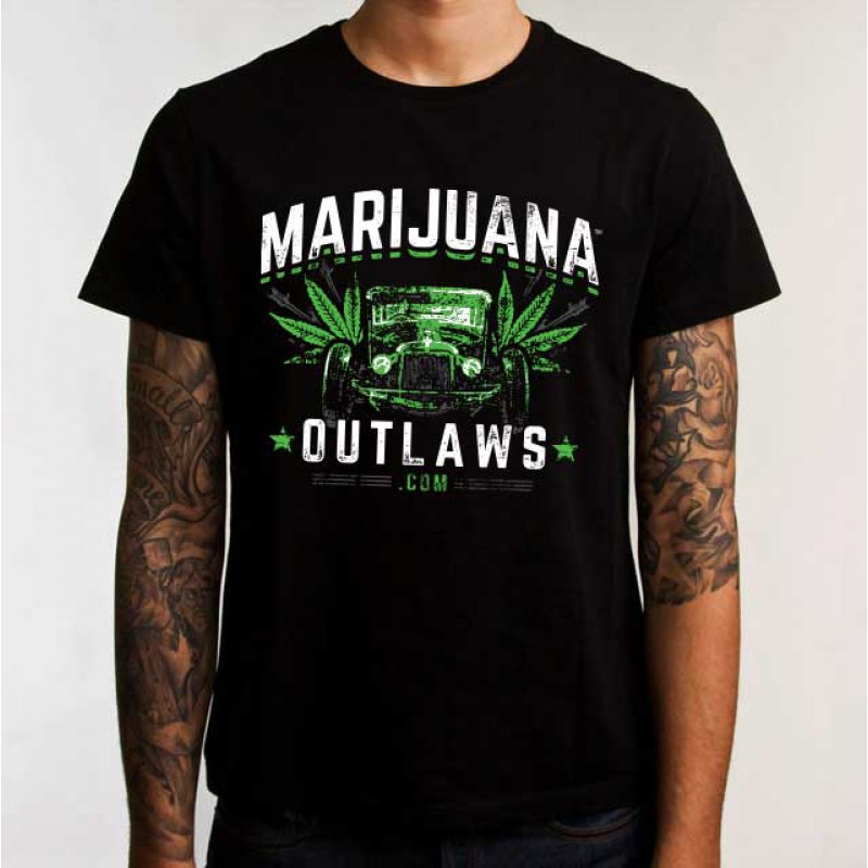 Marijuana Outlaws - Hot Rod- T-Shirt