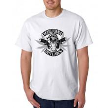 Marijuana Outlaws - Greyscale Logo T-Shirt - White