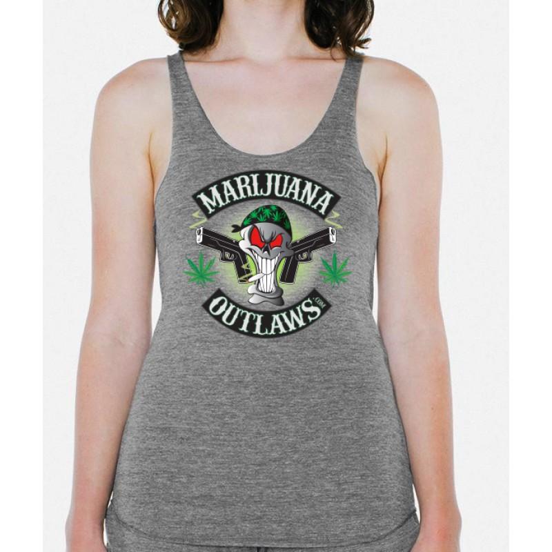 Marijuana Outlaws Women's Athletic Grey Tank Top