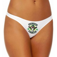 Marijuana Outlaws Women's Underwear - White