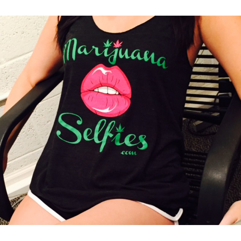 Marijuana Selfies Women's Racerback Tank Top