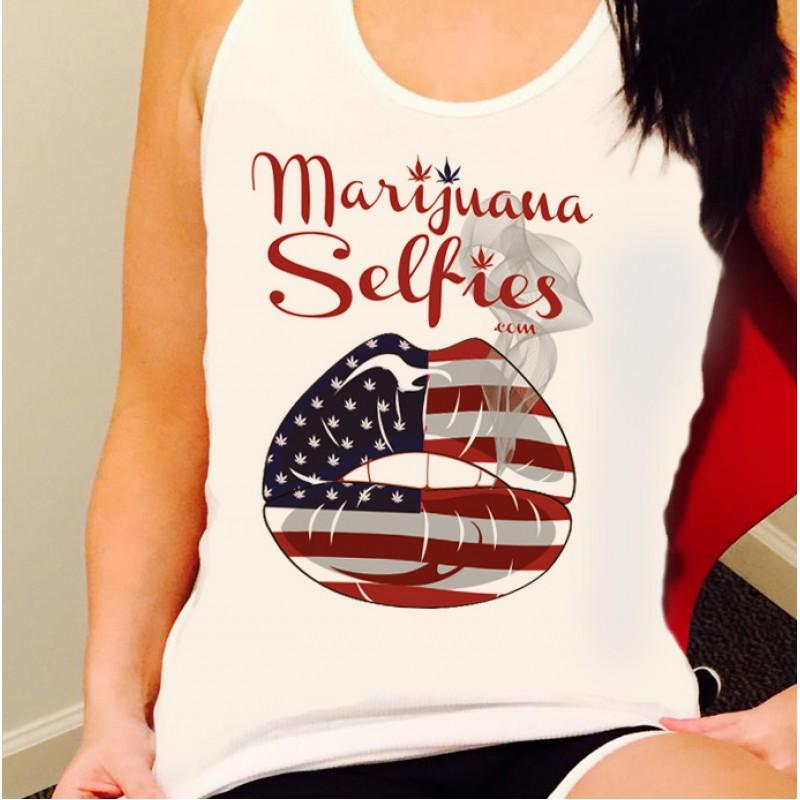 Marijuana Selfies Women's Tank Top - USA Version