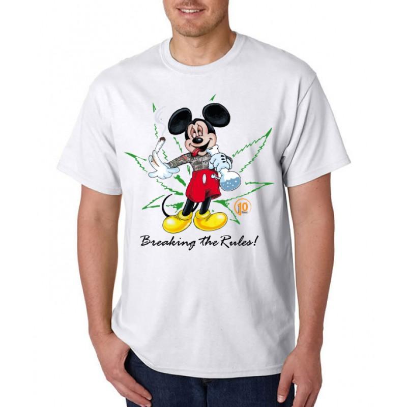 Smoke10 - Mickey Breaking The Rules Men's T-Shirt