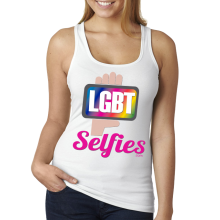 LGBT Selfies - White Tank Top