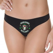 Marijuana Outlaws Women's Underwear - Black