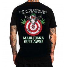 Marijuana Outlaws Bulls-Eye Men's T-Shirt