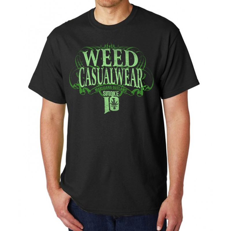 Smoke10 - Weed Casualwear /Marijuana Outlaws Men's T-Shirt