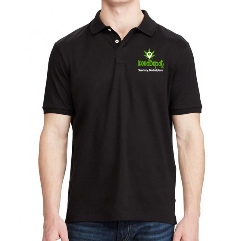 Weed Depot - Black Polo Shirt
